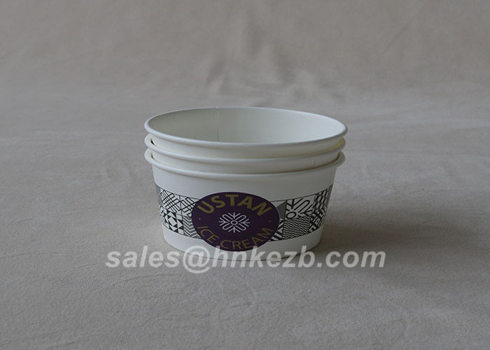 16oz LOGO Printed Ice Cream Paper Cups OEM Food Grade Paper Ice Cream Containers